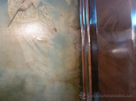 Arte: antigua lamina carton enmarcada anunciacion - Foto 2 - 35552878