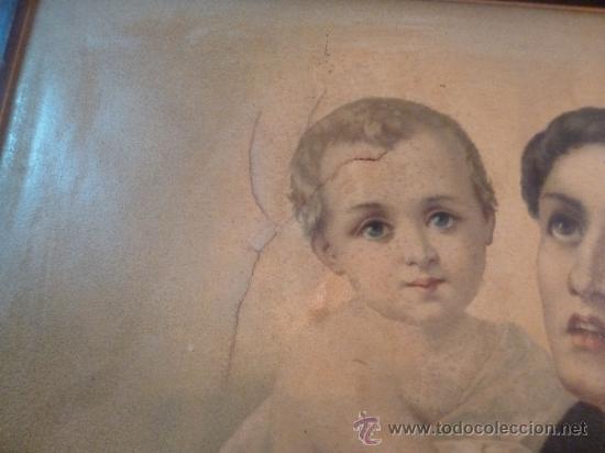 Arte: antigua lamina carton enmarcada - Foto 9 - 35552725