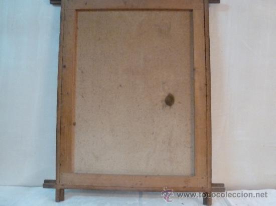 Arte: antigua lamina carton enmarcada - Foto 3 - 35552725