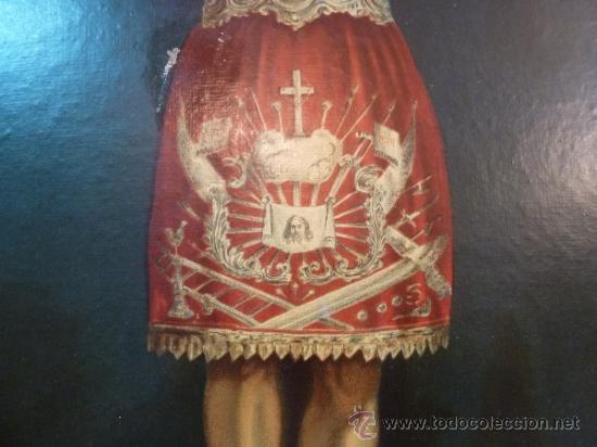 Arte: antigua lamina carton enmarcada santo cristo de manacor - Foto 8 - 35552625