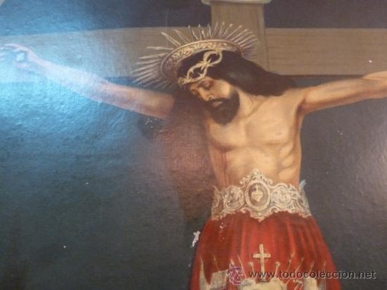 Arte: antigua lamina carton enmarcada santo cristo de manacor - Foto 6 - 35552625