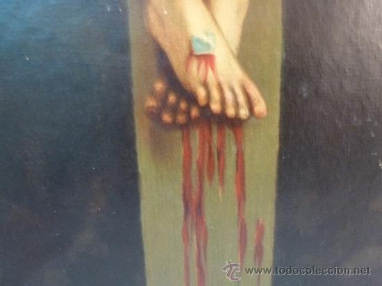 Arte: antigua lamina carton enmarcada santo cristo de manacor - Foto 7 - 35552625