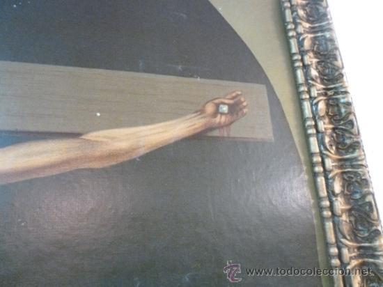 Arte: antigua lamina carton enmarcada santo cristo de manacor - Foto 3 - 35552625
