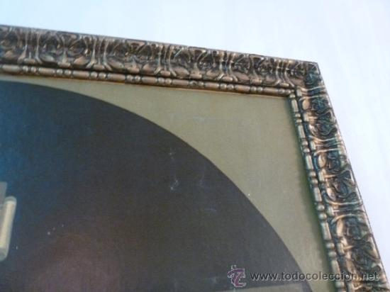 Arte: antigua lamina carton enmarcada santo cristo de manacor - Foto 4 - 35552625