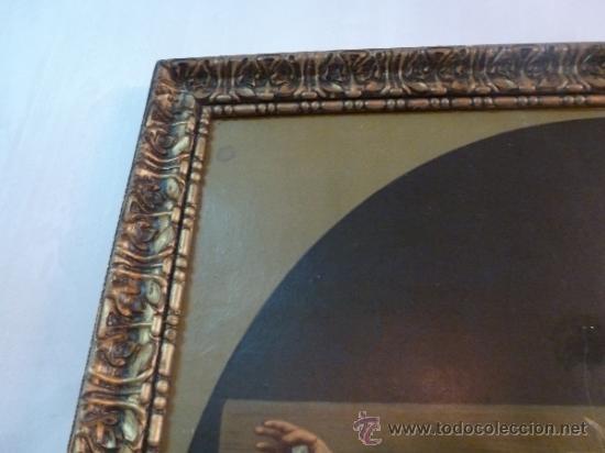 Arte: antigua lamina carton enmarcada santo cristo de manacor - Foto 2 - 35552625