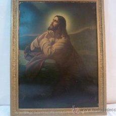 Arte: LAMINA DE PAPEL JESUS REZANDO. Lote 35667942