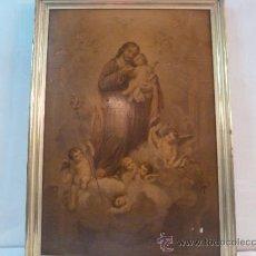 Arte: LAMINA DE PAPEL SAN JOSE CON EL NIÑO. Lote 35668014