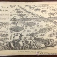 Arte: LÁMINA DEL SITIO DE BREDA, POR EL EJÉRCITO ESPAÑOL, POR EL MARQUÉS DE ESPÍNOLA, EL AÑO 1625. . Lote 35753458