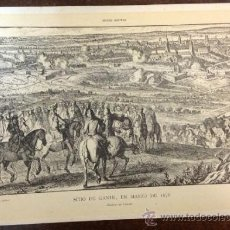 Arte: SITIO DE GANTE, EN MARZO DE 1678. GRABADO DE LECLERC. E. ULLASTRES, EDITOR., TIP. LA ACADEMIA. . Lote 35753511