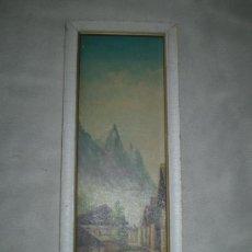 Arte: LAMINA SOBRE TABLE CON MARCO DE MADERA. Lote 35917326