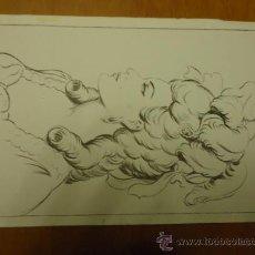 Arte: LAMINA ANTIGUA DIBUJO EMILIO FREIXAS AÑOS 60 SUCESOR DE E. MESEGUER EDITOR BARCELONA. Lote 36067683