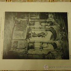 Arte: ANTIGUA LAMINA MATERIALES Y DOCUMENTOS DE ARTE ESPAÑOL : MUEBLE , BARCELONA CASA BAIXERAS. Lote 36135766