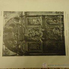 Arte: ANTIGUA LAMINA MATERIALES Y DOCUMENTOS DE ARTE ESPAÑOL : RETABLO, BURGOS. Lote 36135804