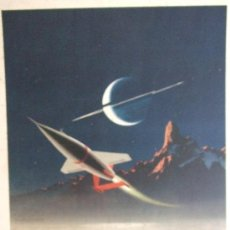 Arte: EXPLORING TITAN, LARGEST MOON OF SATURN - CHESLEY BONESTELL - IMPRESO EN FINLANDIA POR TILGMANN. Lote 36204685