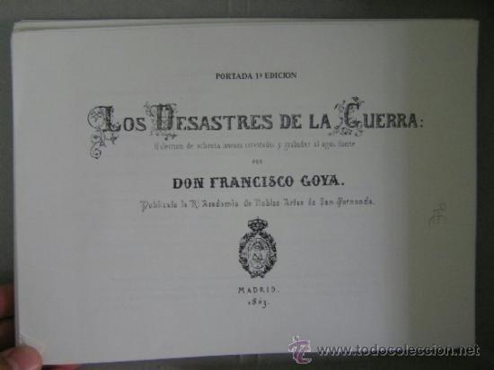 Arte: los desastres de la guerra,80 edicion 1983, laminas,agua fuerte,goya,, - Foto 7 - 36868190