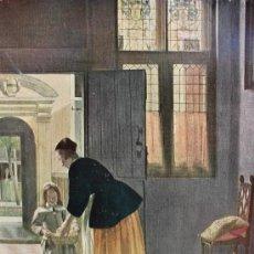 Arte: LA VENDEDORA DE PAN IMPRESO EN INGLATERRA - SERIE DE NORMILL DE LOS VIEJOS MAESTROS HOLANDESES. Lote 36918382