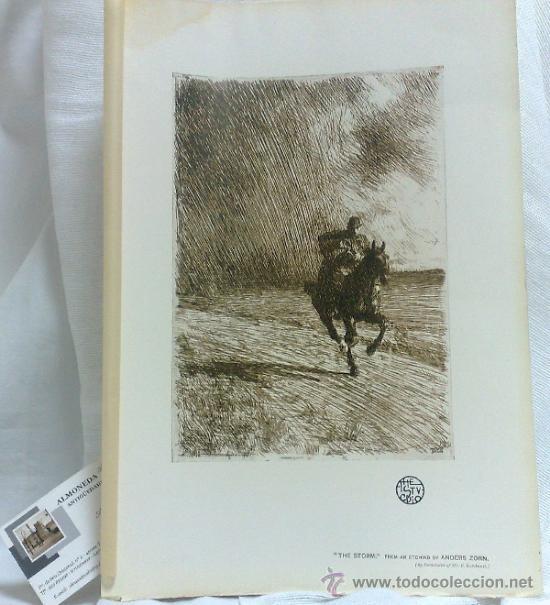 AÑO 1901.-THE STORM.-BY ANDERS ZORN. LAMINA ORIGINAL DE ÉPOCA, .-THE STUDIO-MAGAZINE.- (Arte - Láminas Antiguas)