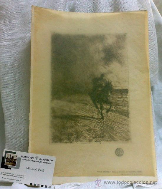 Arte: AÑO 1901.-THE STORM.-BY ANDERS ZORN. LAMINA ORIGINAL DE ÉPOCA, .-THE STUDIO-MAGAZINE.- - Foto 2 - 36942181