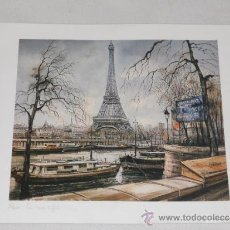 Arte: PARIS LA TORRE EIFFEL - LAMINA A2 - MADE IN FRANCE. Lote 36956183