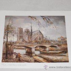 Arte: PARIS - NOTRE DAME - LAMINA A2 - MADE IN FRANCE. Lote 36972398