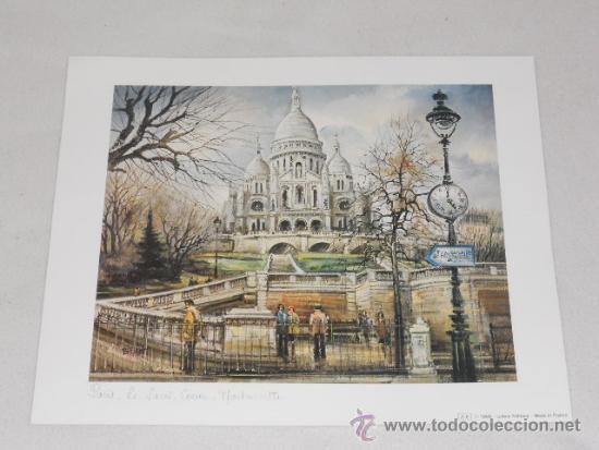 PARIS - - LAMINA A2 - MADE IN FRANCE (Arte - Láminas Antiguas)