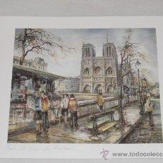 Arte: PARIS - NOTRE DAME - LAMINA ARTISTICA A2 - MADE IN FRANCE. Lote 36972559