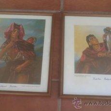 Arte: PAREJA DE CUADROS CON LAMINA ,KRISTIAN KREKOVIC MUSEO DE MALLORCA. Lote 37344128