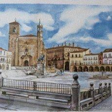 Arte: PRECIOSA PLAZA MAYOR DE TRUJILLO. Lote 37383479