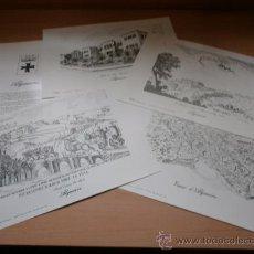 Arte: CARPETA CON 4 LÁMINAS PARA ENMARCAR - ALGUAIRE - ARTIS E.G. LLEIDA 1990. Lote 37543668