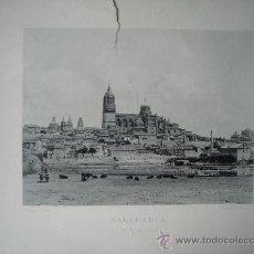 Arte: LAMINA FOTO HAUSER Y MENET, 1890, SALAMANCA, VISTA GENERAL. Lote 39563049