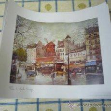 Arte: LÁMINA DE PARIS, MOLIN ROUGE. Lote 38358375