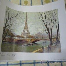 Arte: LÁMINA DE LA TORRE EIFEL, PARIS.. Lote 38358442