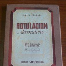 Arte: ROTULACIÓN DECORATIVA. CARPETA 3: MONOGRAMAS, MARCAS, COMPOSICIONES PUBLICITARIAS. PEDRAZA, MIGUEL.. Lote 79767386