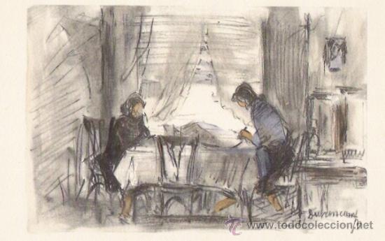 DURANCAMPS LAMINA CON DIBUJO IMPRESO EN PAPEL DE CALIDAD (Arte - Láminas Antiguas)