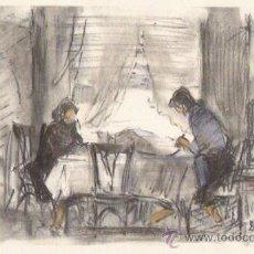 Arte: DURANCAMPS LAMINA CON DIBUJO IMPRESO EN PAPEL DE CALIDAD. Lote 166395953