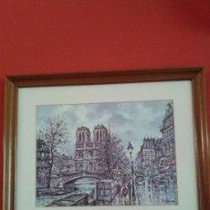 Arte: COLECCIÓ DE 5 LAMINAS ENMARCADAS DE VARIOS PAISAJES DE PARIS DEL AÑO 1988, EN. Lote 38729216