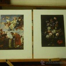 Arte: 6 LÁMINAS DE 21 X 17 CM. DE PINTORES DIFERENTES. Lote 39028673