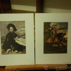 Arte: 6 LÁMINAS DE 21 X 17 CM. DE PINTORES DIFERENTES. Lote 39029107