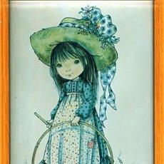 Arte: PRECIOSA LAMINA ** MARY MAY ** ENMARCADA EN MADERA. Lote 27765751