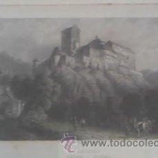 Arte: ANTIGUA LAMINA ENMARCADA CHR KRUSI BASEL KARLSTEIN BOHEME. Lote 39265833