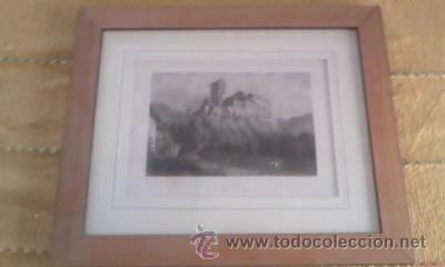 Arte: Antigua lamina enmarcada CHR KRUSI BASEL karlstein boheme - Foto 2 - 39265833