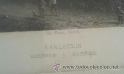 Arte: Antigua lamina enmarcada CHR KRUSI BASEL karlstein boheme - Foto 4 - 39265833