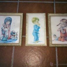 Arte: LAMINAS DE CONSTANZA ENMARCADAS - TRES CUADROS. Lote 39971320