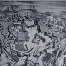Arte: ALEGORIA DE LA GUERRA CIVIL.DOMINGO VILADOMAT.LAMINA DE 18.5X24. Lote 39749620