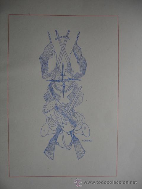 ALEGORIA DE LA GUERRA CIVIL.DOMINGO VILADOMAT.LAMINA DE 18.5X24 (Arte - Láminas Antiguas)