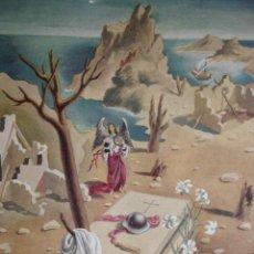 Arte: ALEGORIA DE LA GUERRA CIVIL.DOMINGO VILADOMAT.LAMINA DE 18.5X24. Lote 39749681