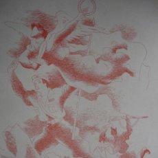 Arte: ALEGORIA DE LA GUERRA CIVIL.DOMINGO VILADOMAT.LAMINA DE 18.5X24. Lote 39749707