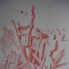 Arte: ALEGORIA DE LA GUERRA CIVIL.DOMINGO VILADOMAT.LAMINA DE 18.5X24. Lote 39749713