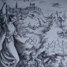 Arte: 5ª BANDERA DE LA LEGION.ESCENA ALUSIVA A LA GUERRA CIVIL DE ANDRES CONEJO.1940.18.5X24. Lote 39800791