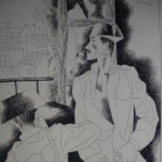 Arte: GUARDIA CIVIL.ESCENA ALUSIVA A LA GUERRA CIVIL DE JOSE ROMERO ESCASSI.1940.18.5X24. Lote 43523427